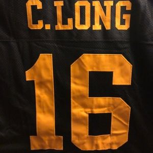 College Throwback Series Brand Shirts - IOWA Hawkeyes C Long #16 Authentic Football Jersey